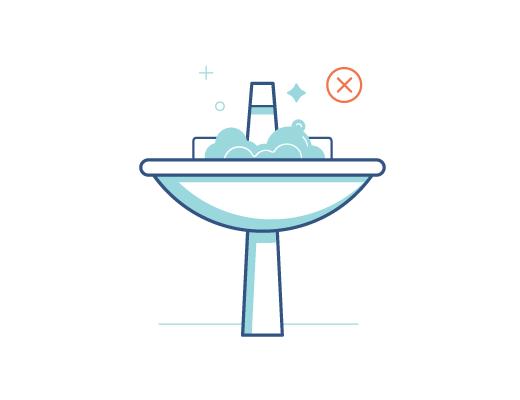 Ne lavez pas vos lentilles dans l'évier avec l'eau du robinet.