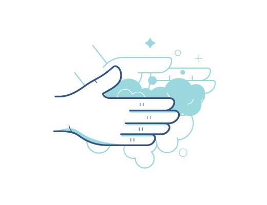 Étapes pour nettoyer correctement ses mains.
